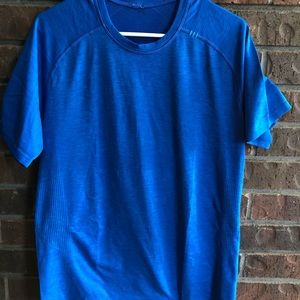 Blue Lululemon  t-shirt